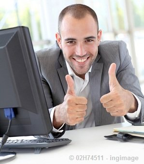 businessman-working-online-thumbs-up